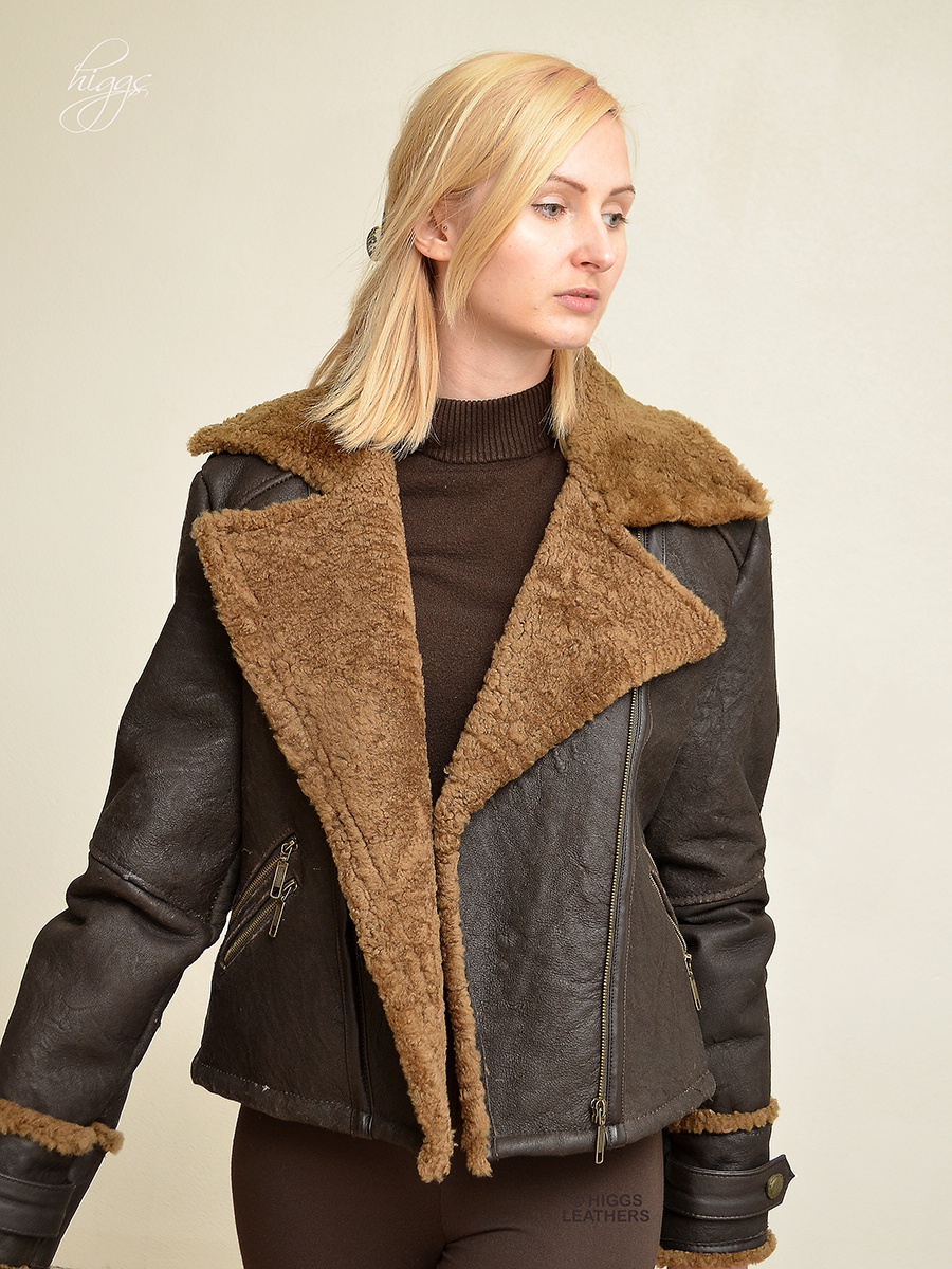 Higgs Leathers {SAVE £130!}  Franzee (ladies Sheepskin flying jackets) ONE only size 36' bust!